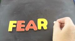 Becoming fearless Stock Footage