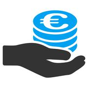 Euro Salary Flat Vector Icon Stock Illustration