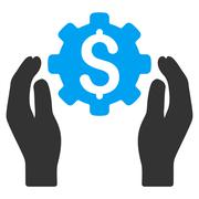 Banking Maintenance Hands Flat Vector Icon Stock Illustration