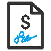 Invoice Page Flat Vector Icon Stock Illustration