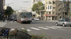 San Francisco Cable Bus Stock Footage
