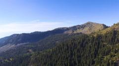 Flying Along the Mountain Ridge in Deer Valley, Utah Stock Footage