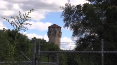 Old Prison Guard Tower Stock Footage