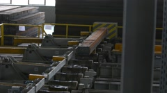 Rolling mill machine for rolling steel sheet Stock Footage