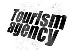 Vacation concept: Tourism Agency on Digital background Stock Illustration