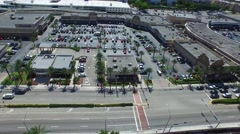 Aerial Shot of Parking Lot, Miami Beach Stock Footage