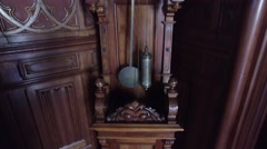 Old Clock in Royal Queens letter office room - Ajuda Palace Stock Footage