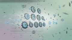 Cloud computing and artificial intelligence Stock Footage