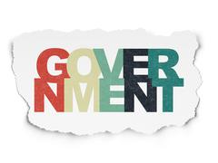 Politics concept: Government on Torn Paper background Stock Illustration