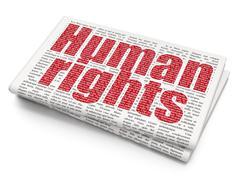 Politics concept: Human Rights on Newspaper background Stock Illustration