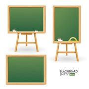 Green Board Set. Different View. Vector Stock Illustration