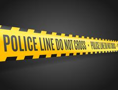 Police Line with Text Not Cross. Vector Stock Illustration