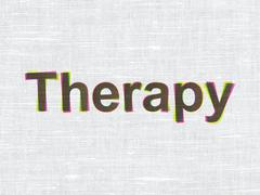 Medicine concept: Therapy on fabric texture background Stock Illustration