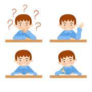 Schoolchild vector avatars collection Stock Illustration