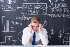 Ups and downs of being self-employed Stock Photos