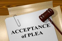 Acceptance of Plea - legal concept Stock Illustration