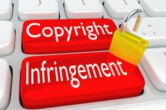 Copyright Infringement concept Stock Illustration