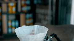 Ground Coffee Is Poured Into a Bowl Stock Footage