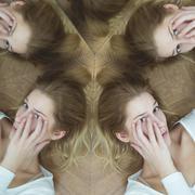 Woman with social phobia Stock Photos
