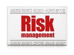 Business concept: newspaper headline Risk Management Stock Illustration
