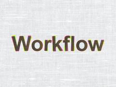 Business concept: Workflow on fabric texture background Piirros