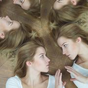 Mental illness and split personality Stock Photos