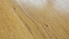 Parquet. Drops of water on wooden surface. Stock Footage