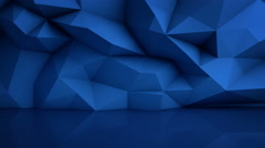 Polygonal blue surface with reflection loopable 3D render 4k UHD (3840x2160) Stock Footage