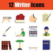 Writer icon set Piirros