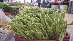 Salvia tea at the Turkish local market Stock Footage