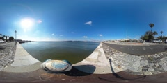 360 view from the Tagus river Stock Footage