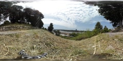 360 view from Belgrade Fortress Stock Footage