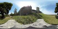 360 view next to the Belgrade Fortress Stock Footage