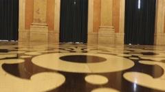 Royal hall Entrance - Ajuda Palace, Portugal Stock Footage