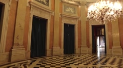 Royal hall Entrance - Ajuda Palace, Portugal Stock Footage