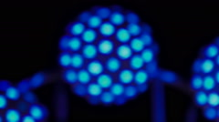 Defocused carnival lights at night  Stock Footage