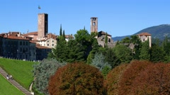 Bassano del Grappa - View from the Martyrs Avenue, motion view Stock Footage