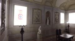 Royal Lobby - Ajuda Palace, Portugal Stock Footage