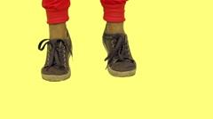 Dancing feet in sneakers Stock Footage