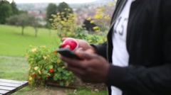 Pokemon Go Player Engrossed Stock Footage