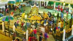 The famous Erawan Shrine in Bangkok Stock Footage