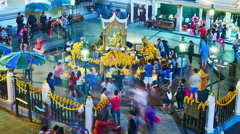 The famous Erawan Shrine in Bangkok Stock Footage