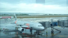 Jetstar airlines at Airport Stock Footage