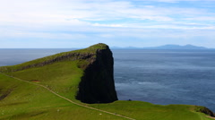 4K UltraHD A Timelapse at Neist Point, Skye, Scotland Stock Footage