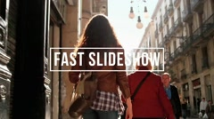 Fast Slideshow Movie Trailer and Titles Displays Photo Gallery Stock After Effects