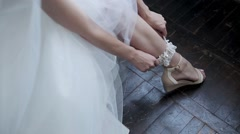 Bride is Wearing Garter Stock Footage