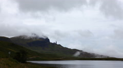 4K UltraHD A Timelapse of the Old Man of Storr, Skye, Scotland Stock Footage