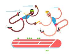 Relay athletics design Stock Illustration