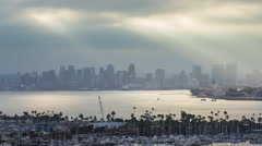 Downtown San Diego Skyline Early in the Morning Timelapse Stock Footage