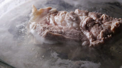 Boiled pork, cooking Stock Footage